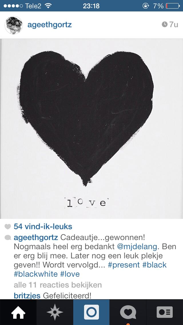 Giveaway op Instagram