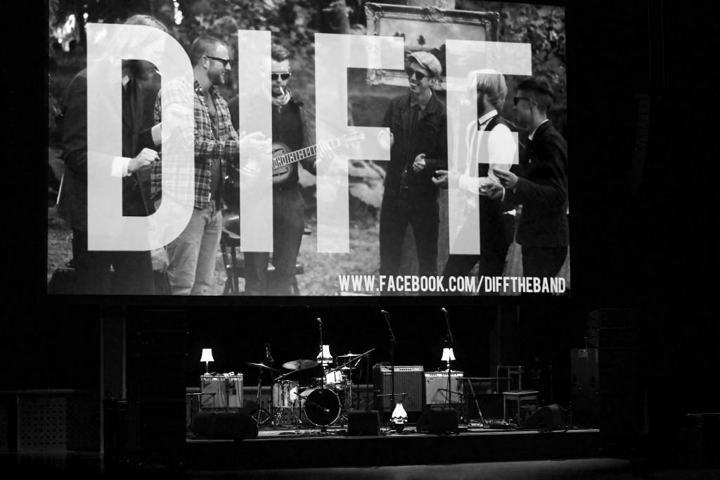 Fotografie: de band DIFF in de Heineken Music Hall