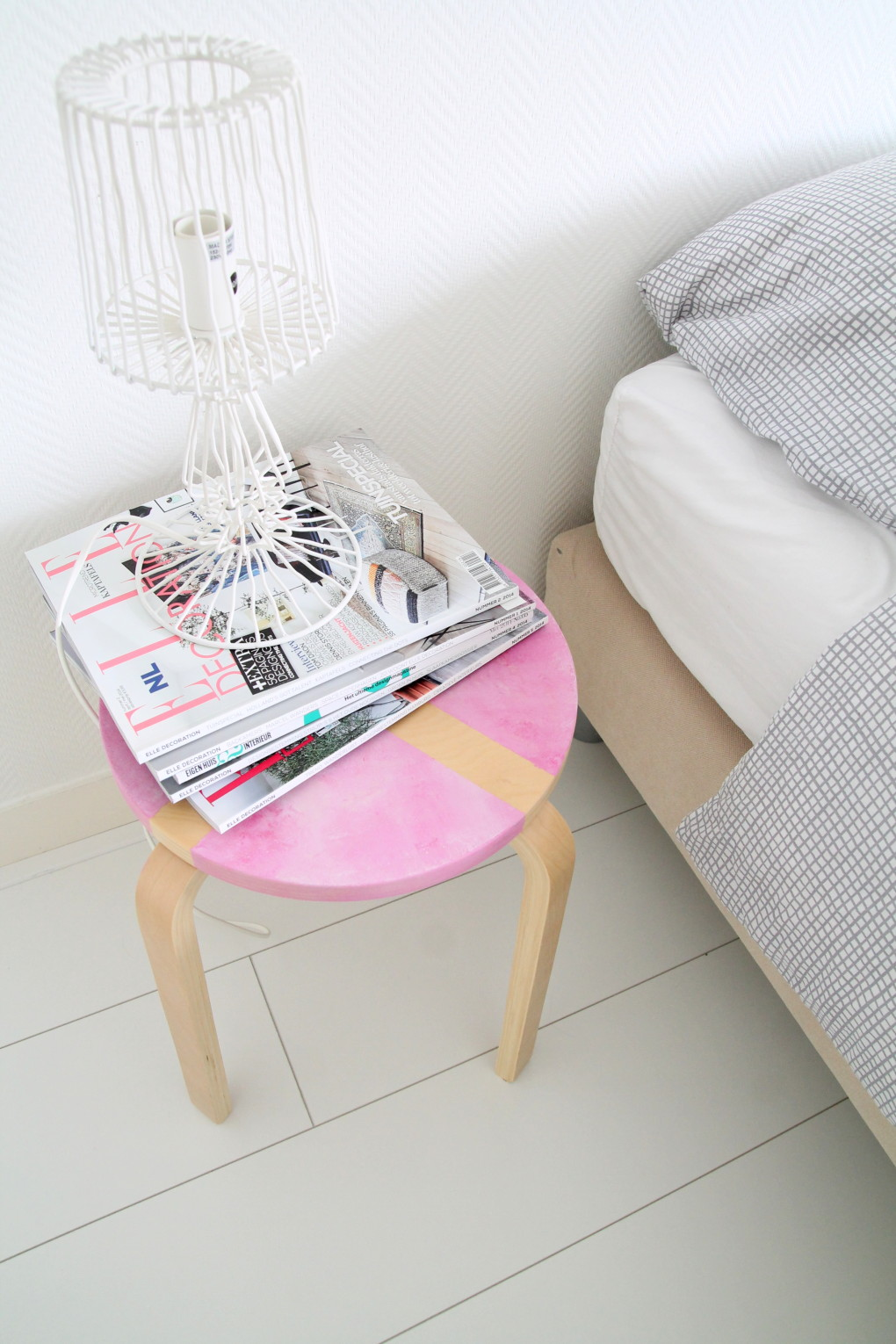 DIY marble nightstand/stool