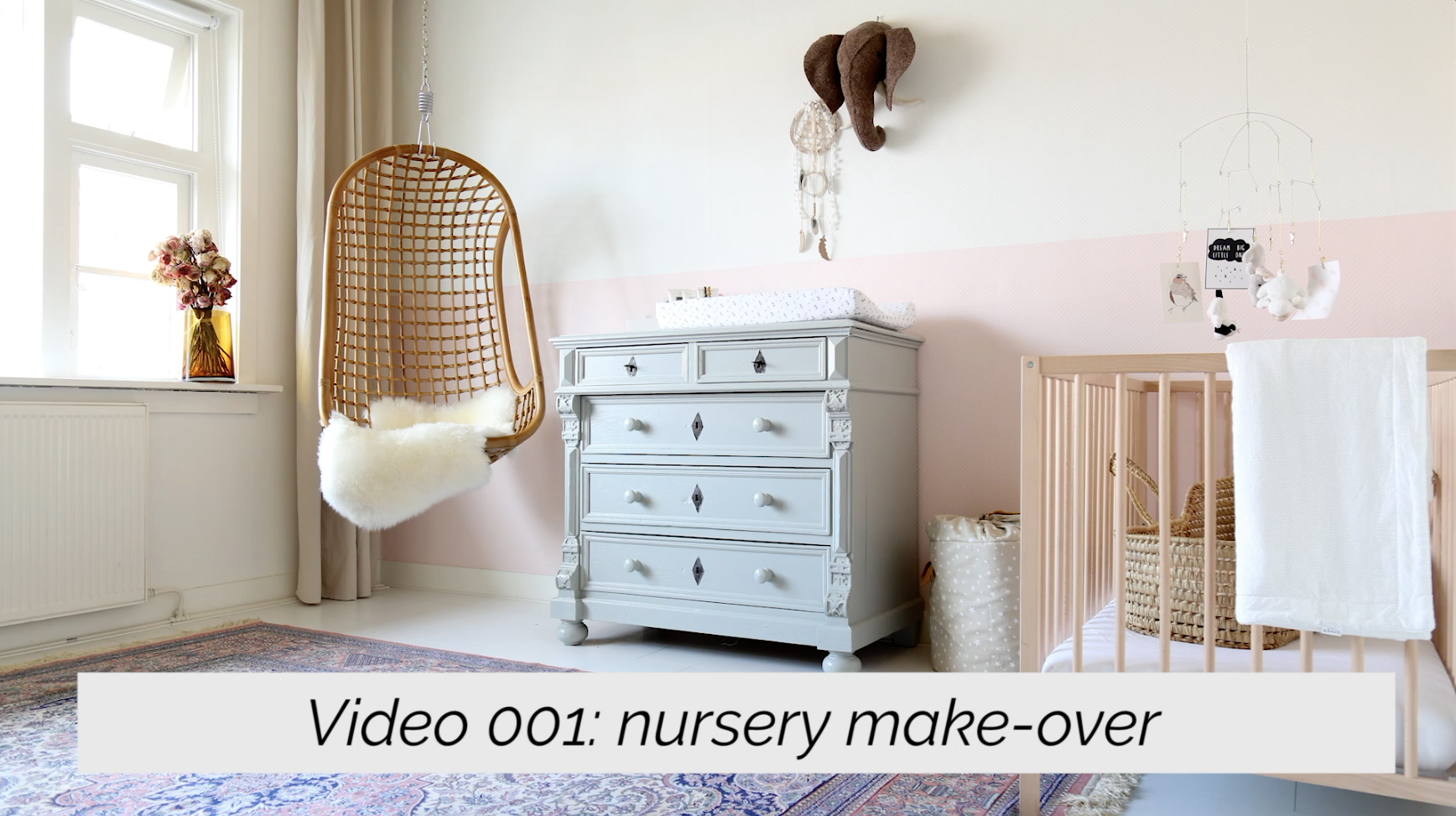 Nursery makeover (with video!)