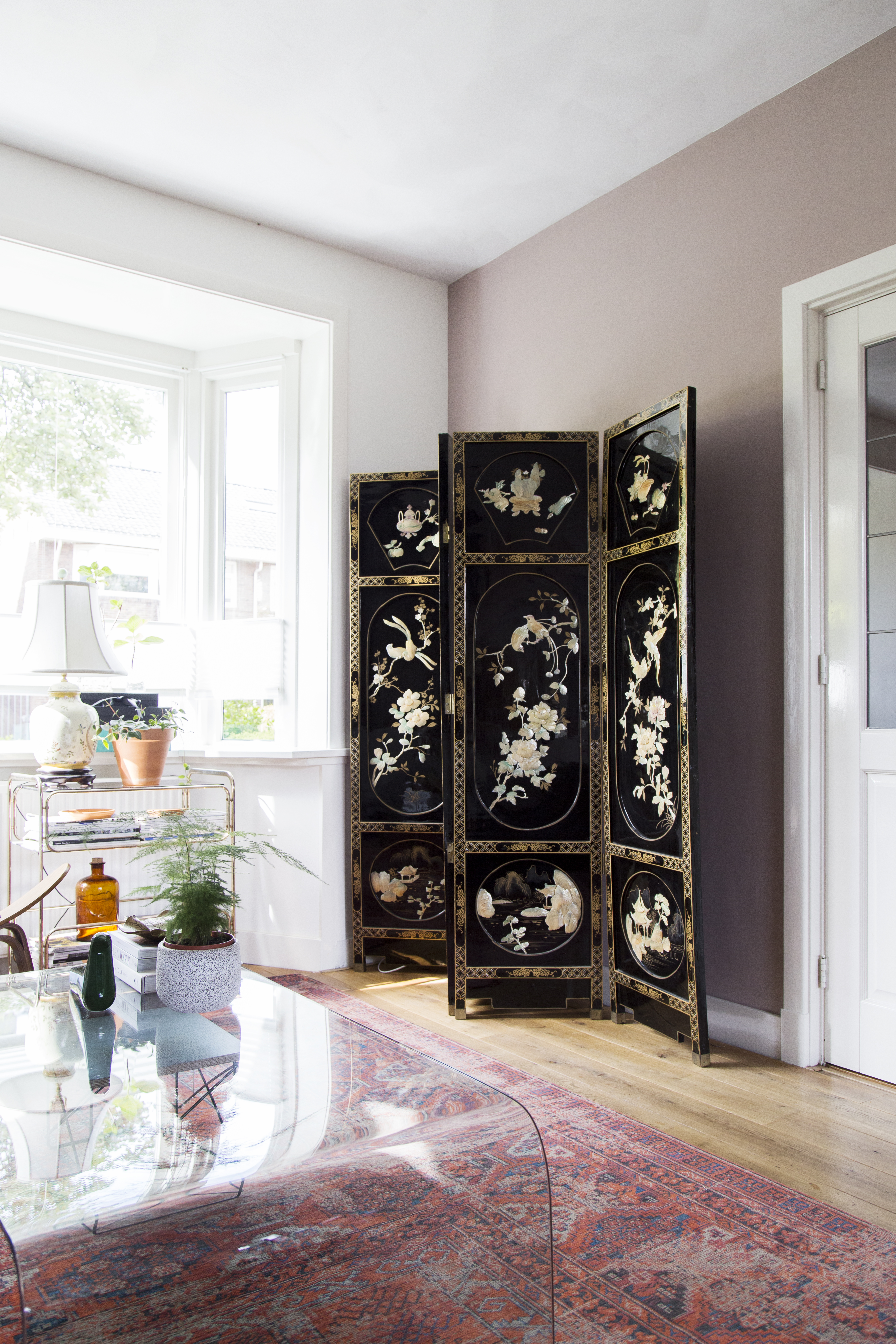 Vintage Chinese folding screen